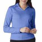 UltraClub Women's Polo Shirt: 100% Egyptian Cotton Interlock Long-Sleeve (8502)