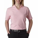 UltraClub Women's Polo Shirt: 100% Egyptian Cotton Pima Solid (8524)