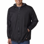 Dickies Men's Jacket: Fleece-Lined Hooded Nylon (33237NV)