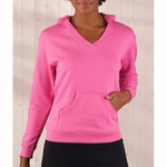 LAT Sportswear Women's Sweatshirt: French Terry V-Neck Hoodie (3654)