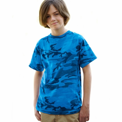 Code V Youth T-Shirt: 100% Cotton Camouflage Overdye (2286)