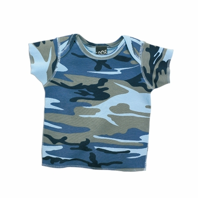 Code V Infant T-Shirt: 100% Cotton Camouflage Lap Shoulder (R4404)