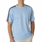 Adidas Men's T-Shirt: ClimaLite 3-Stripes Golf (A72)