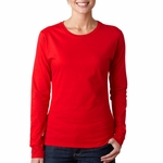 Gildan Women's T-Shirt: 100% Cotton SoftStyle Junior Fit Long-Sleeve (G644L)