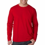 Gildan Men's T-Shirt: 100% Cotton SoftStyle Long-Sleeve (G644)