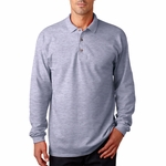 Gildan Men's Polo Shirt: 100% Cotton Pique Long Sleeve (G3400)