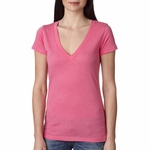 Next Level Women's T-Shirt: Tri-Blend Deep V (6740)