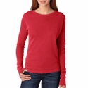 Comfort Colors Women's T-Shirt: 100% Cotton Long-Sleeve Micro Thermal (7015)