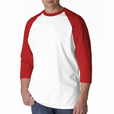 Anvil Men's T-Shirt: 100% Cotton Raglan Baseball (2184)
