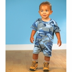 Code V Infant Romper: 100% Cotton Camouflage Tee (4415)