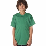 Badger Sport Youth T-Shirt: B-Dry Core Henley (2930)