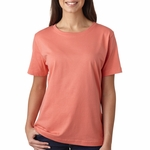 LAT Sportswear Women's T-Shirt: 100% Cotton Ringspun Scoop Neck (3580)