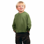 Rabbit Skins Toddler T-Shirt: 100% Cotton Long-Sleeve (3311)