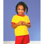 Rabbit Skins Toddler T-Shirt: 100% Cotton Ringer (RS3380)