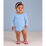 Rabbit Skins Infant Creeper: 100% Cotton Baby Rib Long-Sleeve (4411)