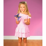 Rabbit Skins Toddler Girl's Dress: 100% Cotton Ruffle (4602)