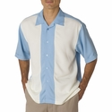 Cubavera Men's Camp Shirt: Pieced Bedford Cord (C03)