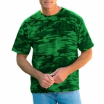 Code V Men's T-Shirt: 100% Cotton Overdye Camouflage (3986)