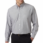 UltraClub Men's Oxford Shirt: Classic Wrinkle-Free Long-Sleeve (8970)