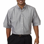UltraClub Men's Oxford Shirt: Classic Wrinkle-Free Short-Sleeve (8972)