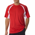 Badger Sport Men's T-Shirt: B-Dry Short-Sleeve Two-Tone Hook (4144)