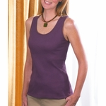 LAT Sportswear Women's Tank Top: 100% Cotton 2x1 Rib Tank (3565)