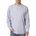 UltraClub Men's Henley: 100% Cotton Mini Thermal (8456)
