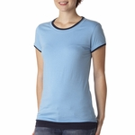 Bella Women's T-Shirt: 100% Cotton Sheer Jersey Short-Sleeve Longer Length 2 in 1 (B8102)