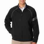 adidas Men's Jacket: ClimaProof 3-Stripes Full-Zip (A69)