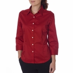 Van Heusen Women's Twill Shirt: 3/4-Sleeve Dress (V0527)