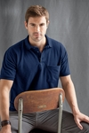 Anvil Men's Polo Shirt: 100% Cotton Deluxe Pique Pocket (6030)