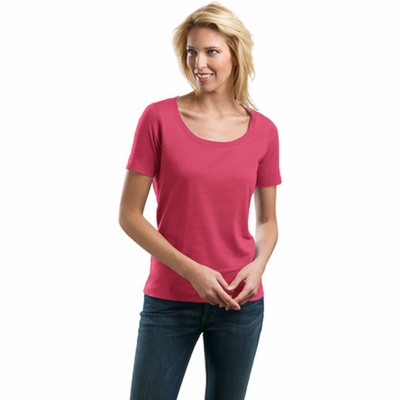 Port Authority Women's T-Shirt: 100% Cotton Concept Scoop (LM1003)