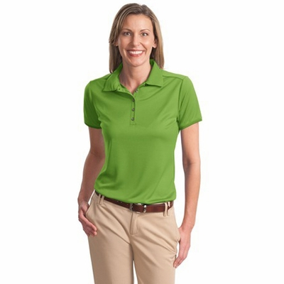 Port Authority Women's Polo Shirt: Bamboo Charcoal Birdseye Jacquard (L498)