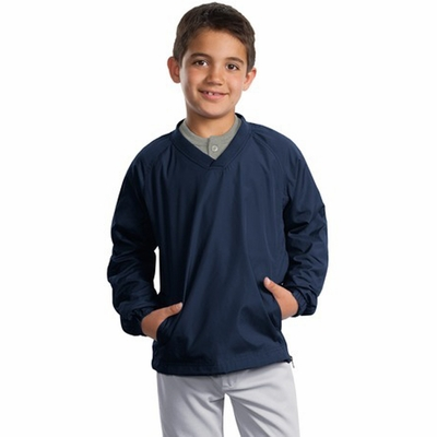 Sport-Tek Youth Windshirt: V-Neck Raglan (YST72)