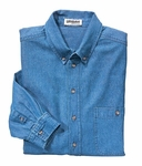 Ash City Men's Denim Shirt: 100% Cotton Long Sleeve Button-Down (88035)
