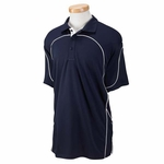 Russell Athletic Men's Polo Shirt: 100% Polyester Team Prestige with Contrast Piping (434CFM)