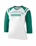 Augusta Sportswear Junior Women's T-Shirt: Cotton Blend Legacy Contrast 3/4-Sleeve Raglan (1258)