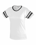 Augusta Sportswear Junior Women's T-Shirt: Cotton Blend Camp Stripes (1275)