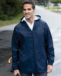 Devon & Jones Men's Rain Jacket: (D756)