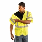 OccuNomix Men's Vest: Mesh Five Point Breakaway Class 3 (LUXHSG)