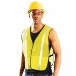 OccuNomix Men's Vest: Value Mesh Silver Bead�(LUXXSB)