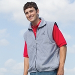 Inner Harbor Men's Vest: Poly Micro-fleece Full-Zip (41)