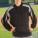 Proline Men's Sweatshirt: Color-Block Performance Hoodie w/ Moisture Wicking (2312)