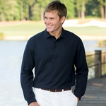 Proline Men's Polo Shirt: Long-Sleeve Performance Pique w/ Back Collar Stripe (4446)