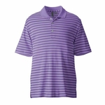 Ashworth Men's Polo Shirt: 100% Polyester Interlock Performance Stripe (3046)