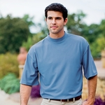 Jonathan Corey Men's Mock Turtleneck: Short Sleeve Performance (400)