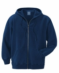 Ash City Men's Sweatshirt: 100% Cotton Fleece Hooded Full-Zip (221210)