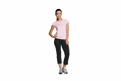 alo Women's T-Shirt: Short-Sleeve Mesh-Back (W1001)