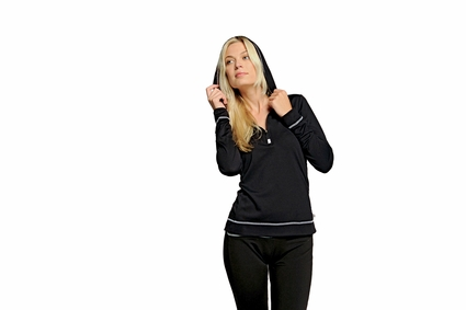 alo Women's Sweatshirt: Long-Sleeve 1/2-Zip Hoodie (W3002)