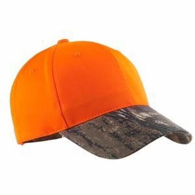 Port Authority Safety Cap: Fluorescent Crown with Camouflage Brim (C804)